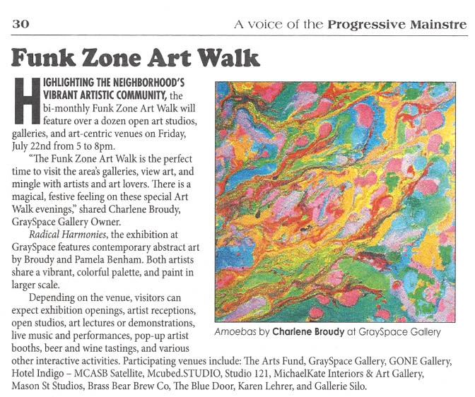 Funk Zone Art Walk featuring Charlene Broudy