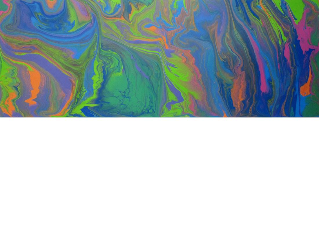 "Springdance, 80 x 28"", Acrylic on Panel, 2015"